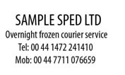 Sample Sped Ltd